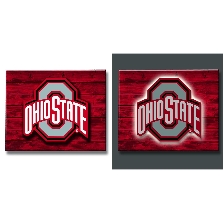 Team Sports America Ohio State Buckeyes LED Metal Wall Art by Team Sports America