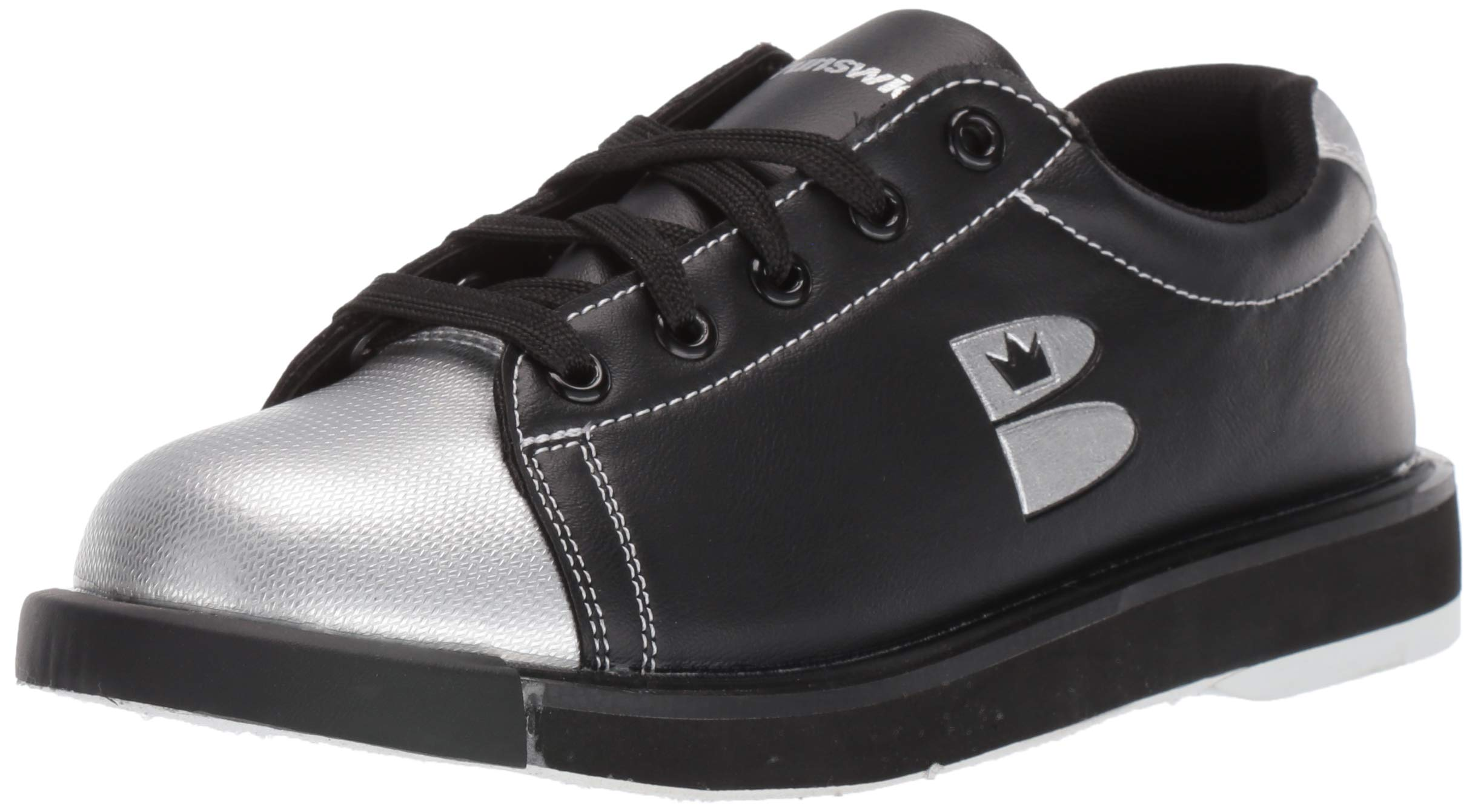 TZone Unisex Black/Silver Size 8/9.5 by Brunswick Bowling Products