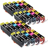 E-Z Ink (TM) Compatible Ink Cartridge Replacement for Canon PGI-225 CLI-226 (4 Large Black, 4 Cyan, 4 Magenta, 4 Yellow, 4 Small Black) 20 Pack