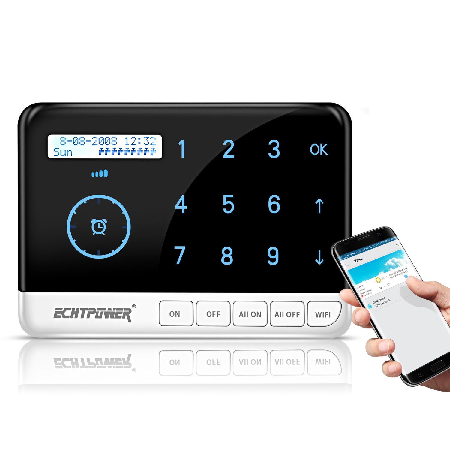 ECHTPower 9 Zone Smart Sprinkler Controller, Designed with WiFi Irrigation Timer, Compatible with Alexa and Google home