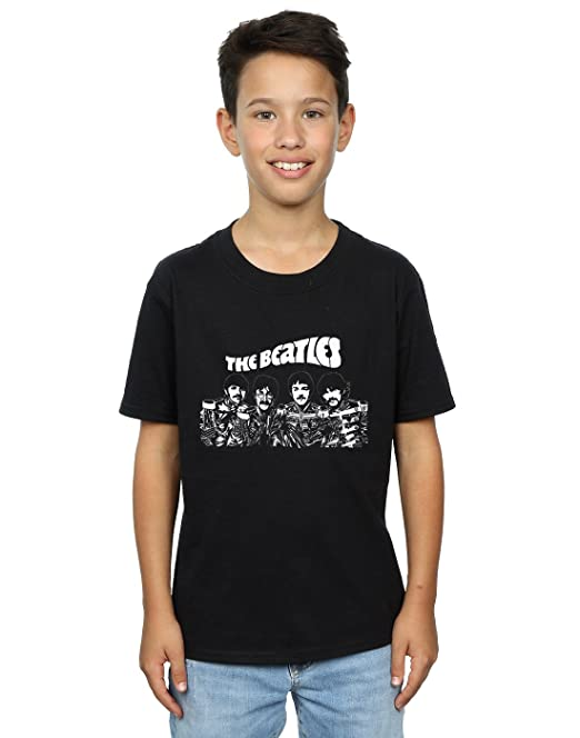 The Beatles Hombre Cartoon Shot Camiseta 1G4wWMQhQo