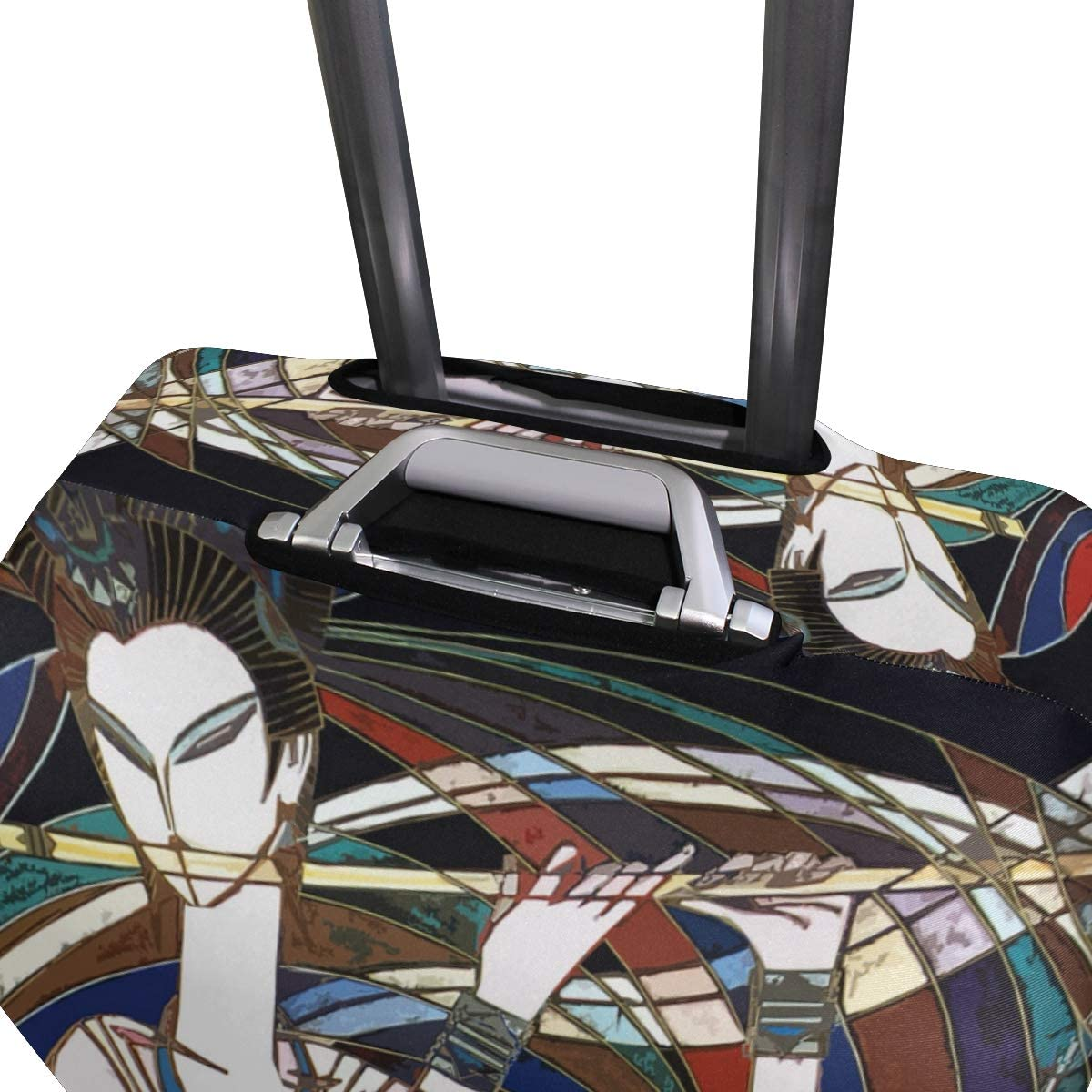 18//22//26//29 Inch Travel Suitcase Luggage Protective Cover with A Flute-Playing Girl