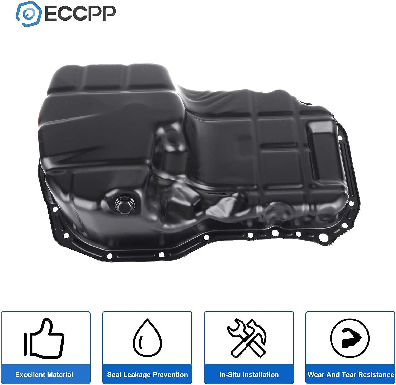 ECCPP Engine Oil Pan Drain Plug Kit fit for 99 00 01 02 03 04 05 Chrysler Sebring Dodge Stratus Mitsubishi Eclipse Galant L4 2.4L Cummins Diesel Compatible with 264-238