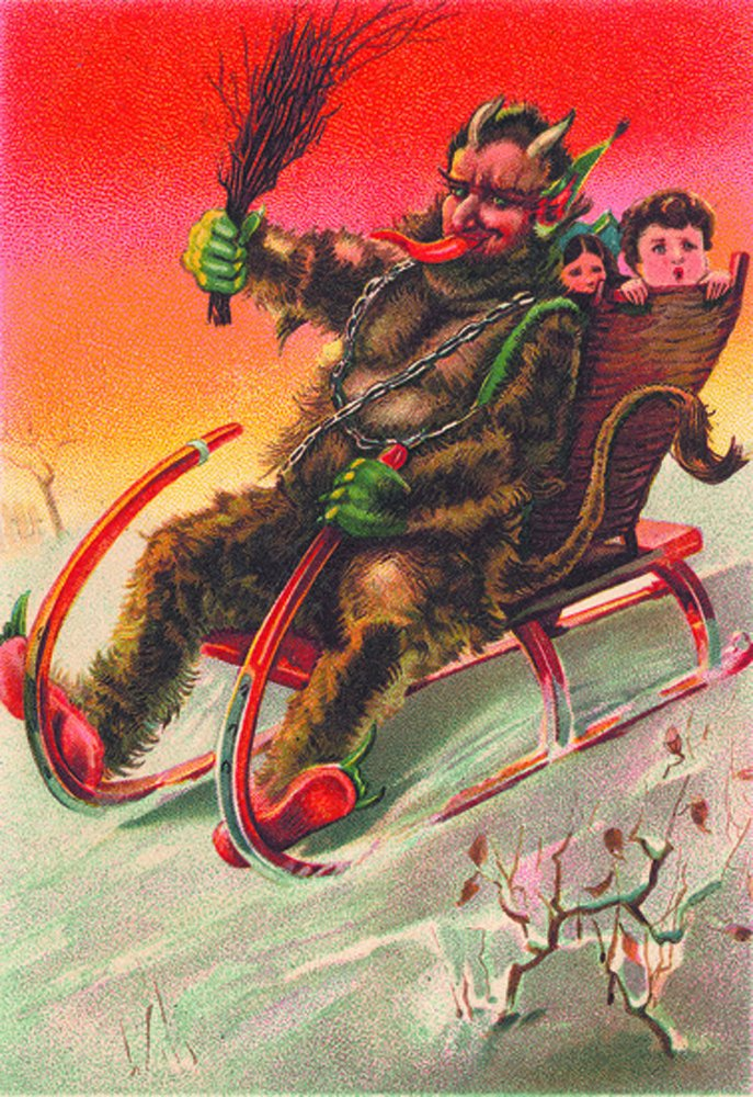 Krampus Greeting Cards Set One: 20 Assorted Cards in Deluxe Tin ...