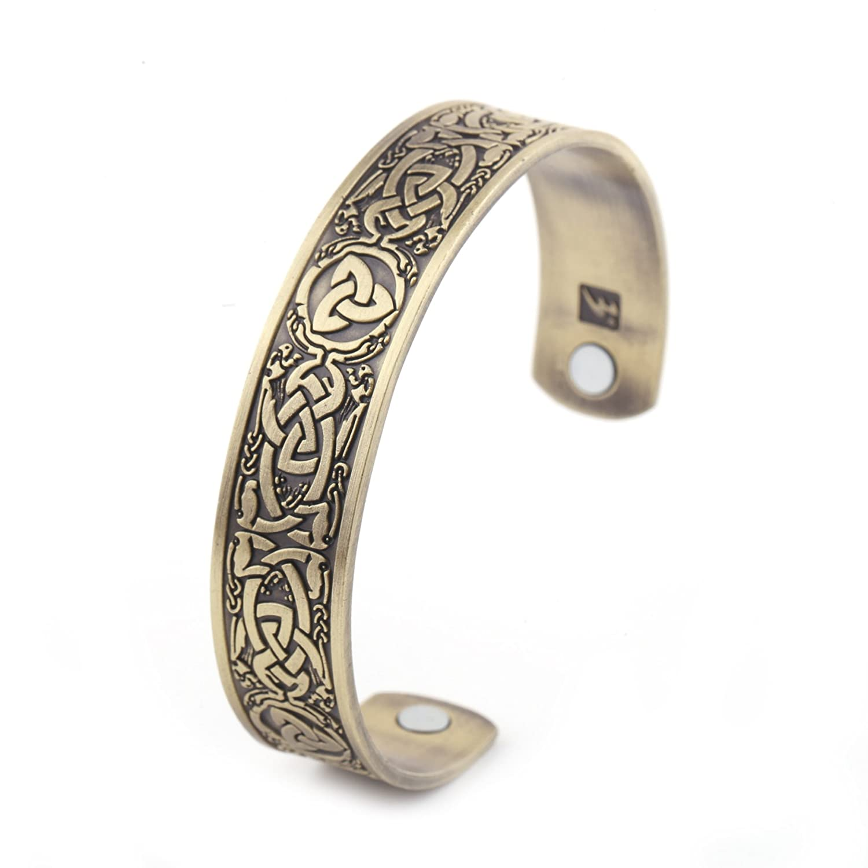 My Shape Health Care Magnetic Bracelet Trinity Knot Cuff Bangle Magnetic Therapy Bracelet Qiju