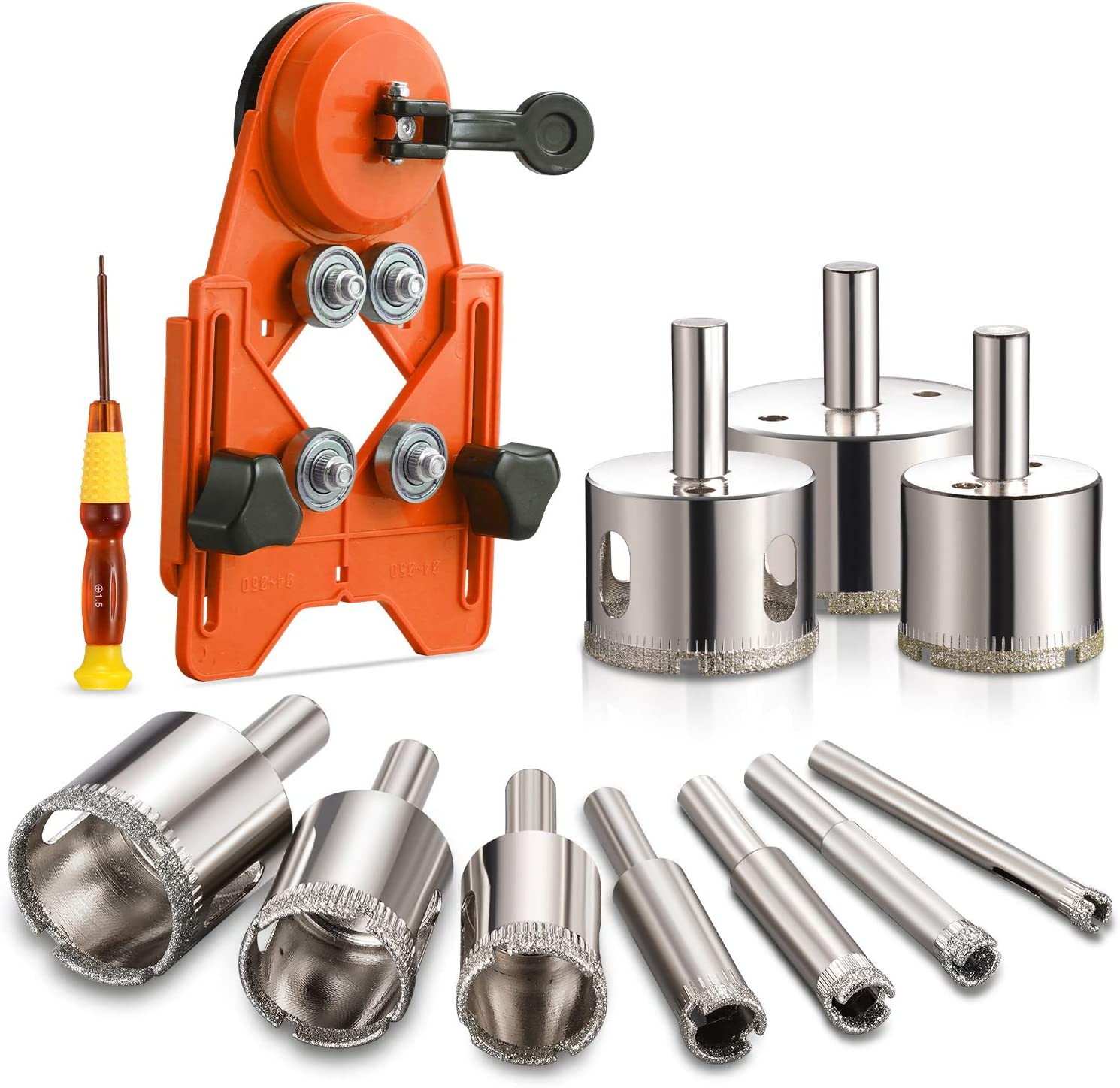 THINKWORK Diamond Drill Bits, Hollow Drill Hole Saw Set, 5-Piece Tile  Opener with Hole Saw Guidance Fixture, Suitable for Ceramic, Glass, Tile,