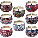 Ahyiyou Scented Candles, 100% Soy Wax Tin Candles, Natural Fragrance Candles for Stress Relief and Aromatherapy - 4 Pack…