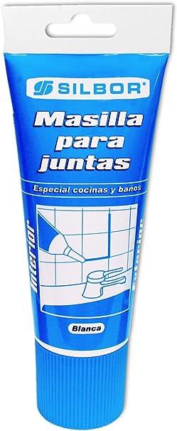 Silbor - Masilla juntas blanca 200ml.: Amazon.es: Bricolaje y herramientas