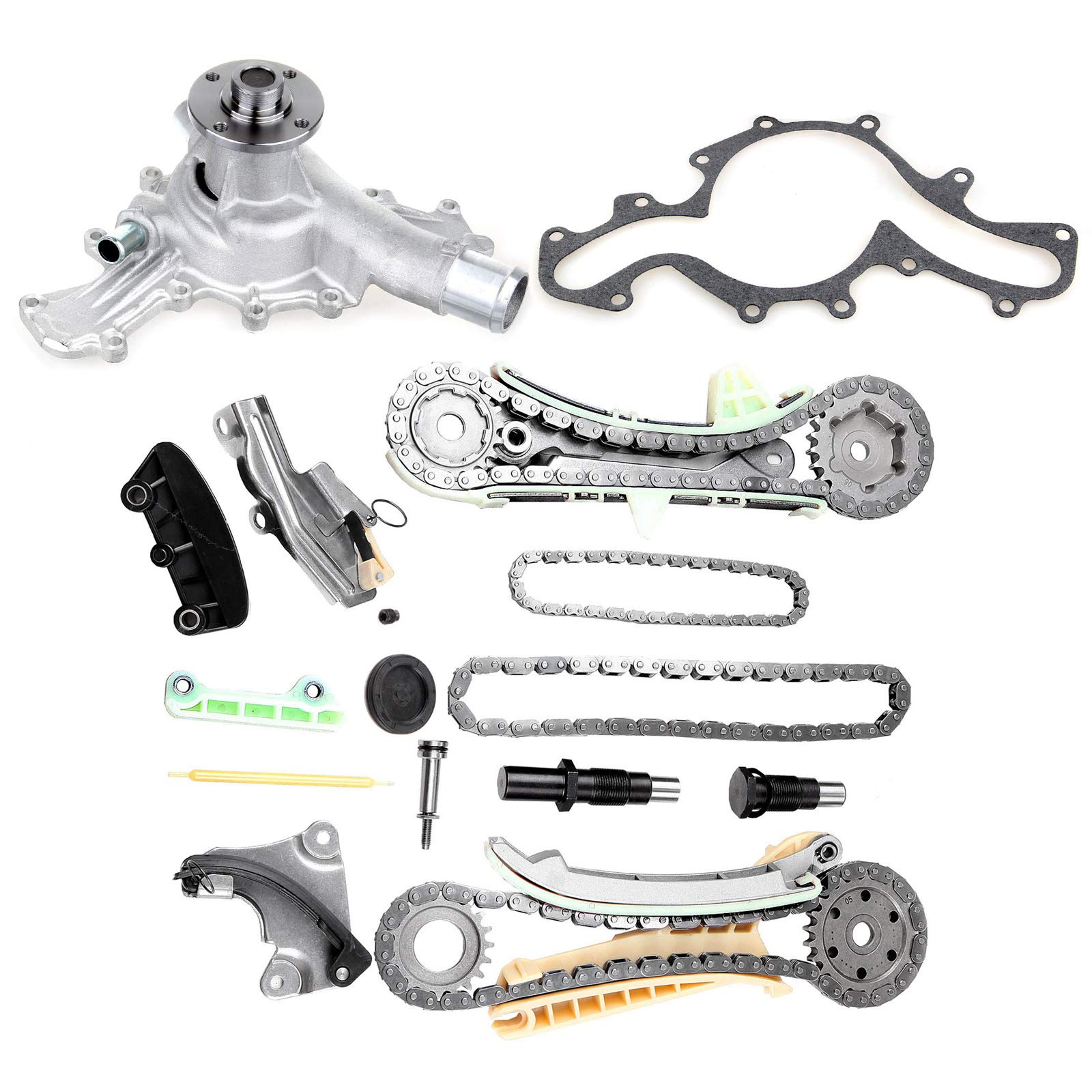 OCPTY TS20395F Timing Chain Kit w/Gears + Water Pump fits for 4.0L Ford Mazda Mercury SOHC V6 Engine by OCPTY