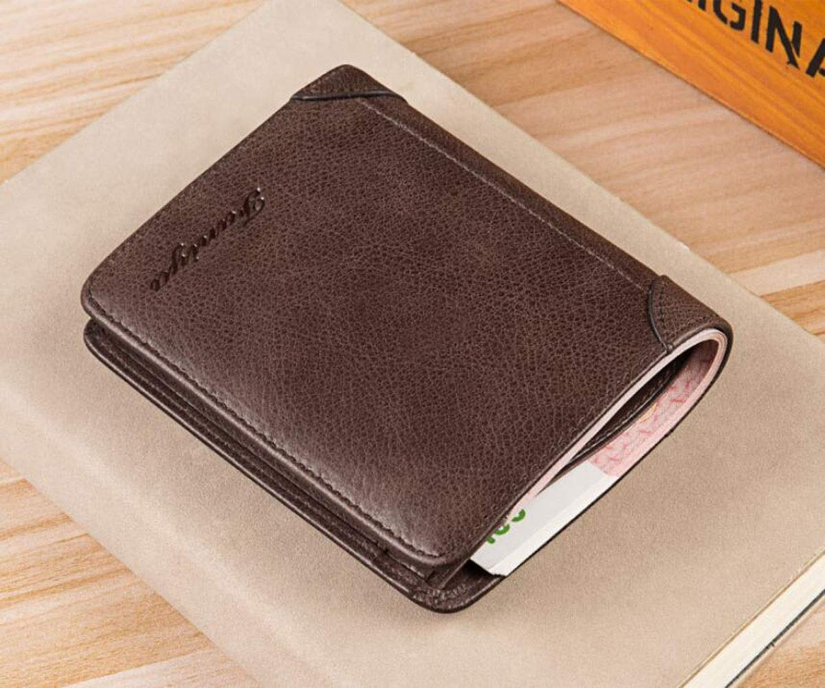 Color Kalmar RFID Travel Wallet cm Stealth Mode Blocking Leather Wallet Black 12 2 9.5 Size, Suitable for Mens Fashion Casual Short Student Youth Business Travel Leather Wallet