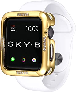 SkyB Dash Protective Jewelry Case for Apple Watch Series 1, 2, 3, 4, 5, 6, SE Devices - Yellow Gold Color for 38mm Apple Watch