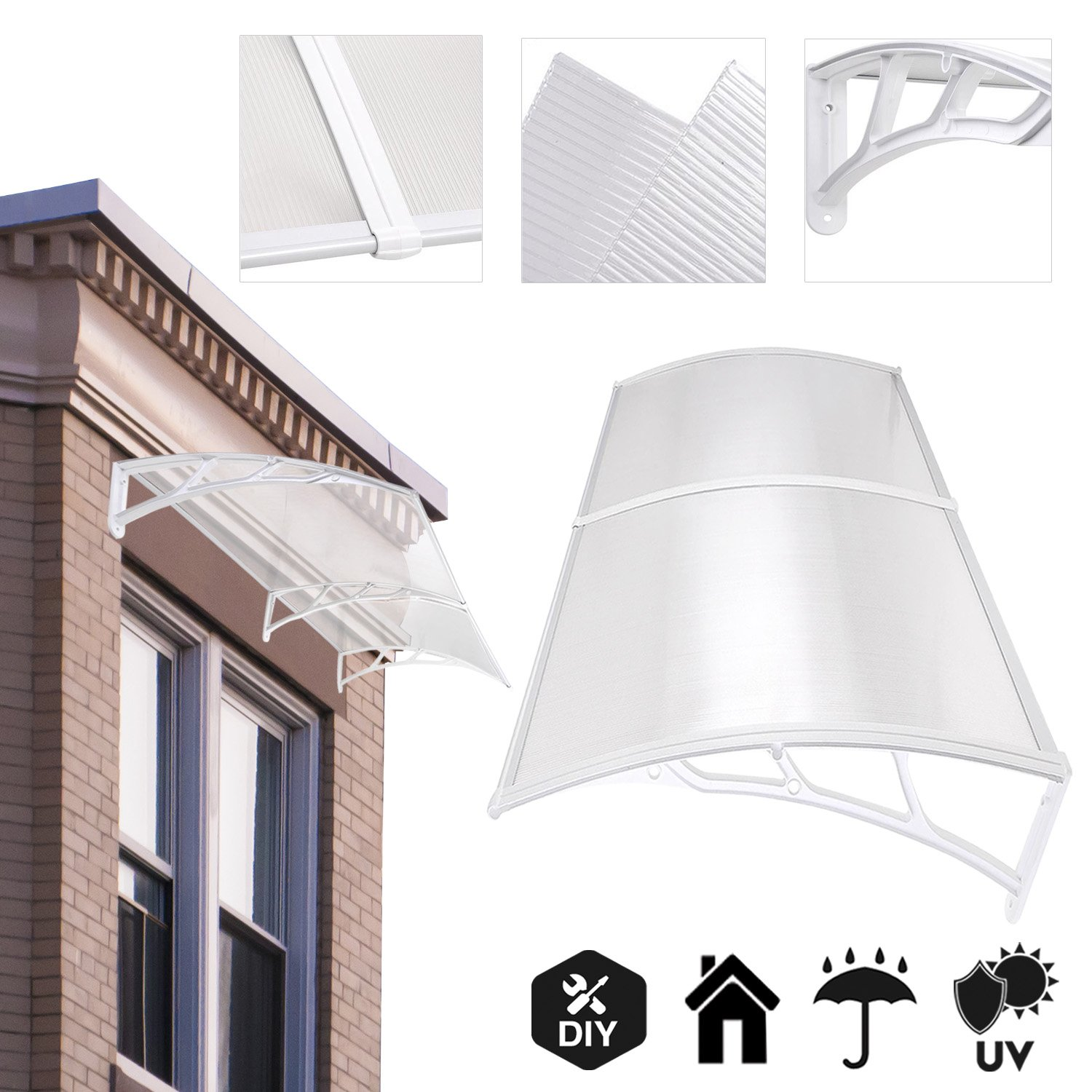 Koval Inc 65 Ft Diy Overhead Clear Outdoor Awning Patio Cover Door