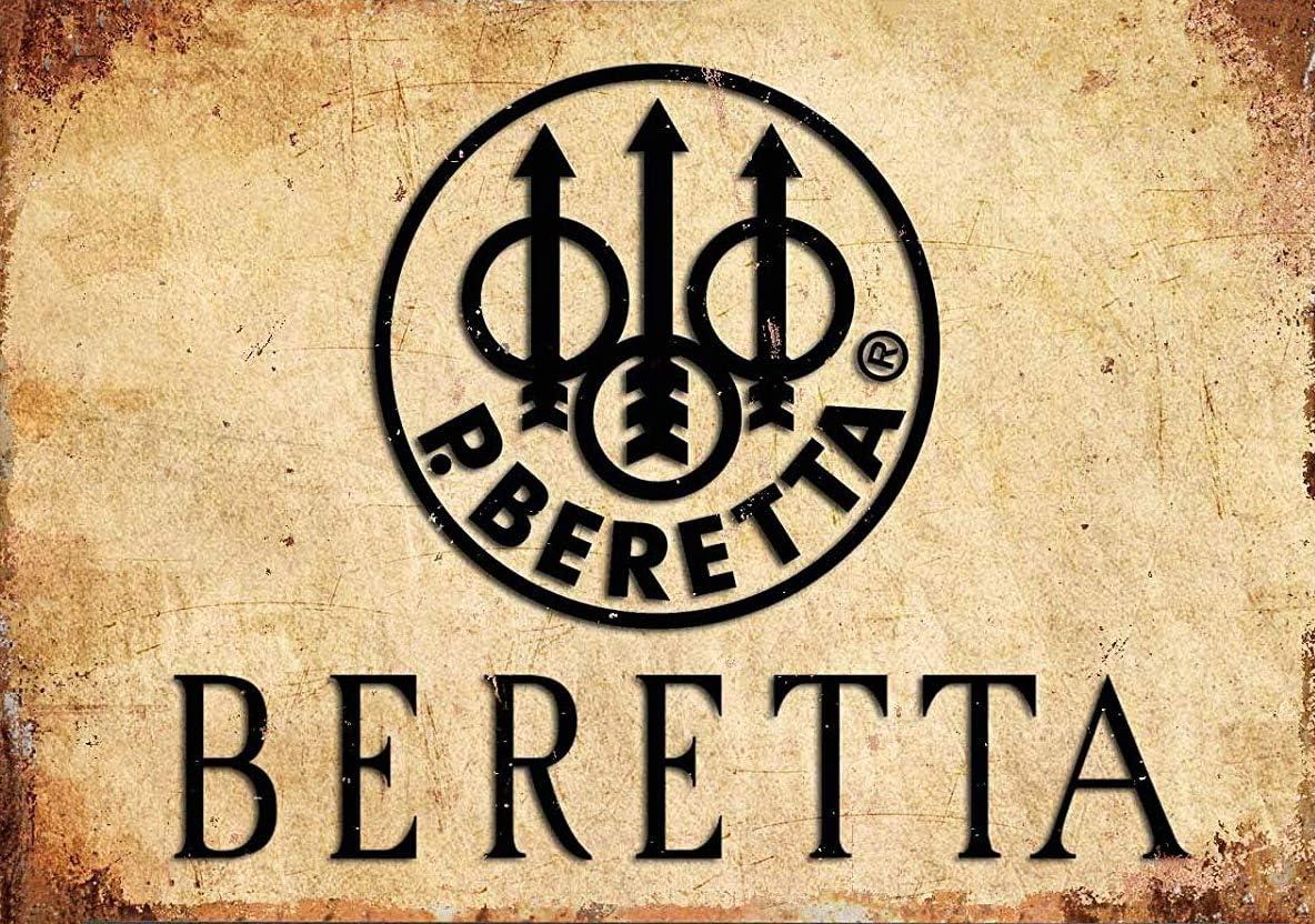 SIGNCHAT Beretta Firearms Tin Sign Metal Decor Metal Sign Wall Metal Tin Sign 8X12 Inches