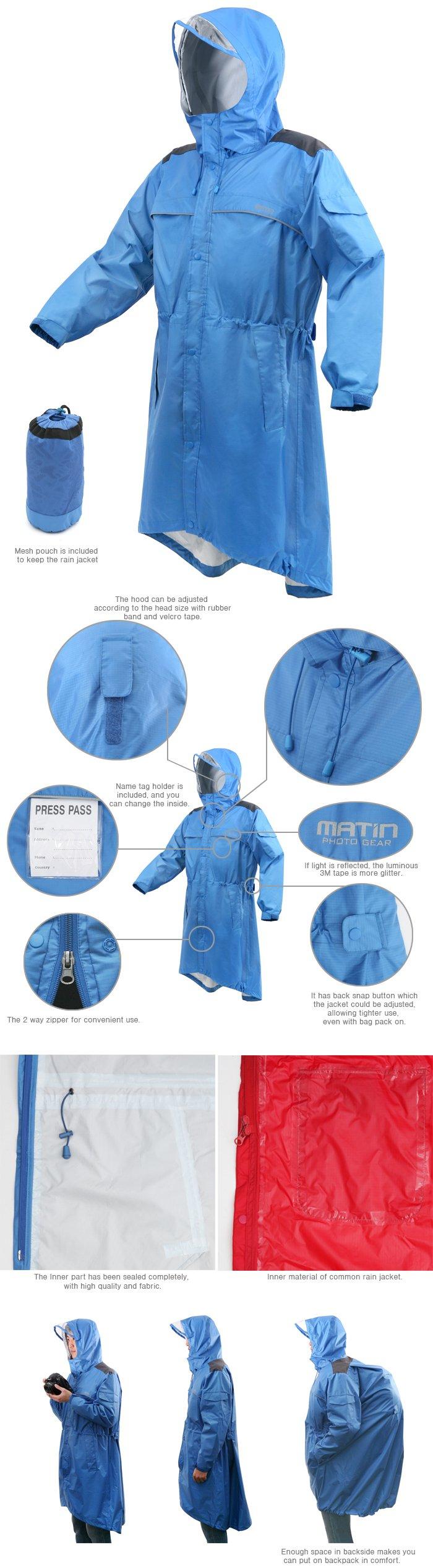 Matin Rain wind Jacket for Professional Photographers - Large