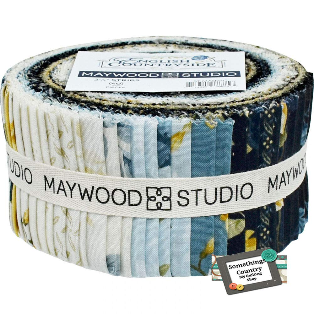 English Countryside 40 2.5-inch Strips Jelly Roll by Maywood Studio