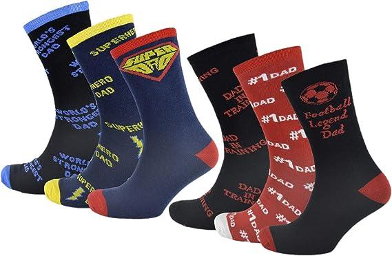 RJM Pack de 6 calcetines Dad para hombre, ricos en algodón: Amazon.es: Ropa y accesorios