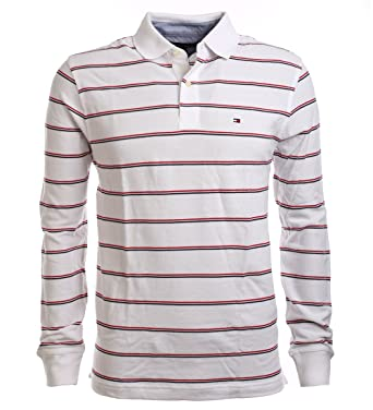 outlet store 1a3be c803b Tommy Hilfiger Herren Langarm Poloshirt Polo Longsleeve Weiß ...