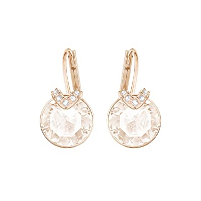 first rate provide large selection of low price sale Swarovski Bella V Pierced Earrings, Pink, Rose gold plating