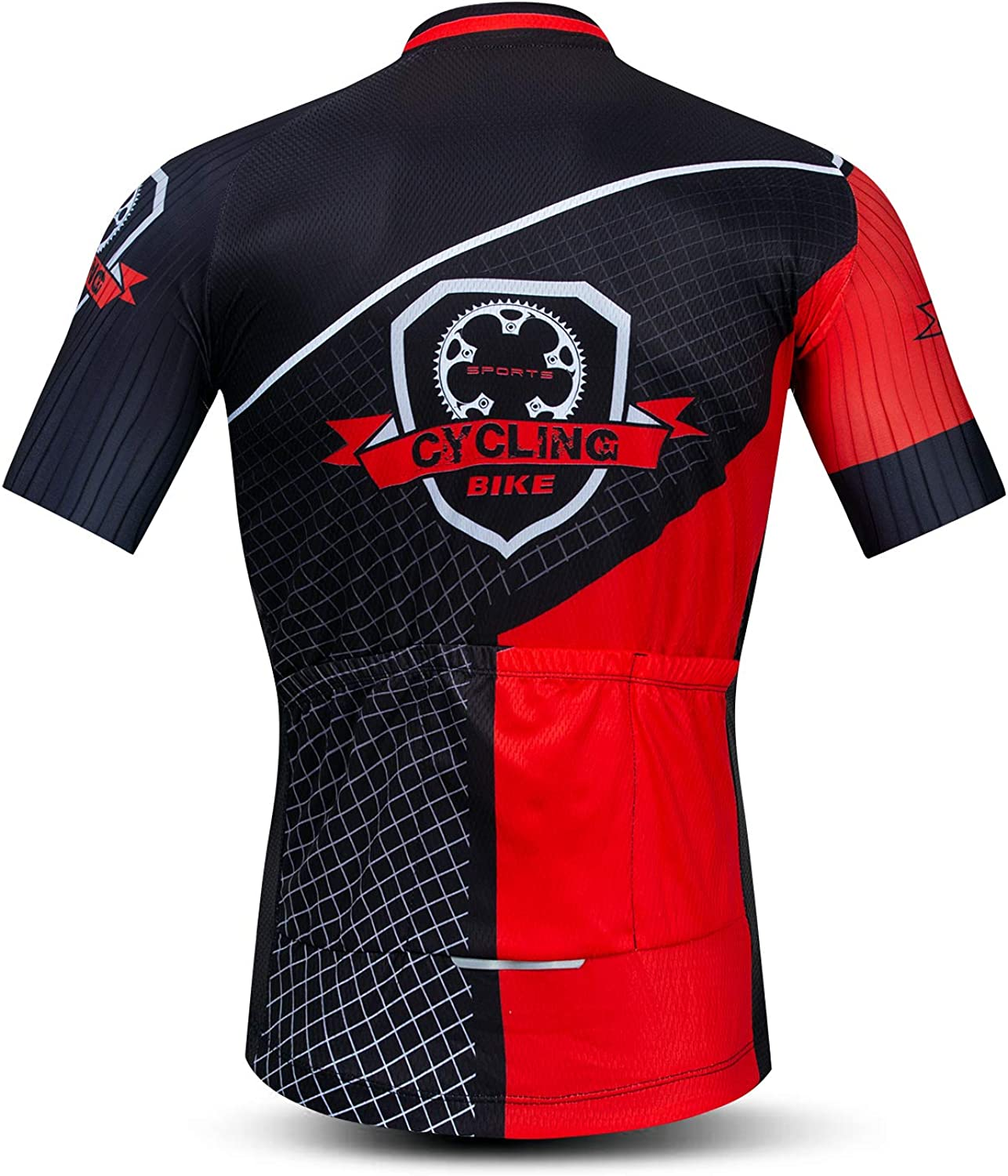 Men/'s Cycling Jersey Mens Bike Clothing Lycra Short Sleeve Pro MTB 3D Bicycle Shirts Tops Quick Dry,Pockets,Breathable
