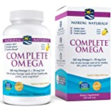 Nordic Naturals Complete Omega, Lemon Flavor - 565 mg Omega-3-120 Soft Gels - EPA & DHA with Added GLA - Healthy Skin…