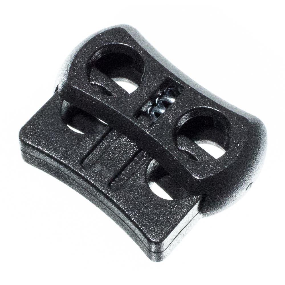 PARACORD PLANET Dual Circle Cord Lock Plastic Spring Stop Toggle - Dual Lock for 1/8 inch Cord by PARACORD PLANET