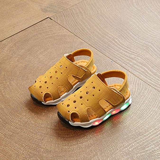 Huhua Sandali bambini, Giallo (Yellow), 6-12 Months