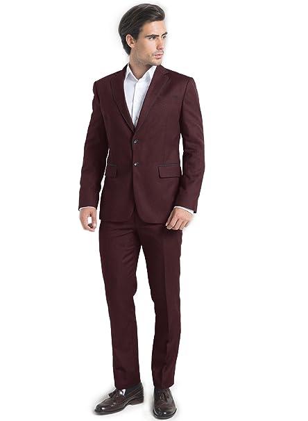 iTailor Men's 2 Button Birdseye Suit at Amazon Men's