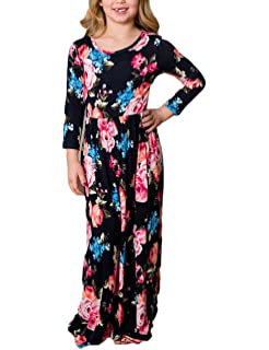 3aeeab3b3e5 Rachel Charm Mommy and Me Full Flower Floral Printing Sleeveless Long Maxi Matching  Dresses Casual Family