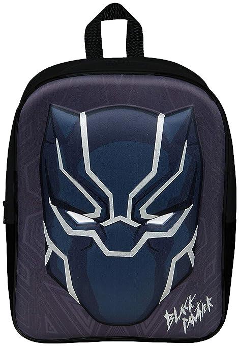 Black Panther Mochila Infantil Niño Primaria 3D Marvel Avengers Mochilas Escolares Chico Infinity War
