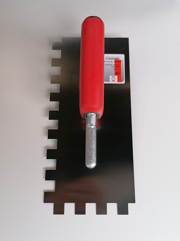 Gl/ättekelle Meisterkelle Zahnkelle 280 x 130 mm Zahnung 15 x 15 Rostfreier Edelstahl