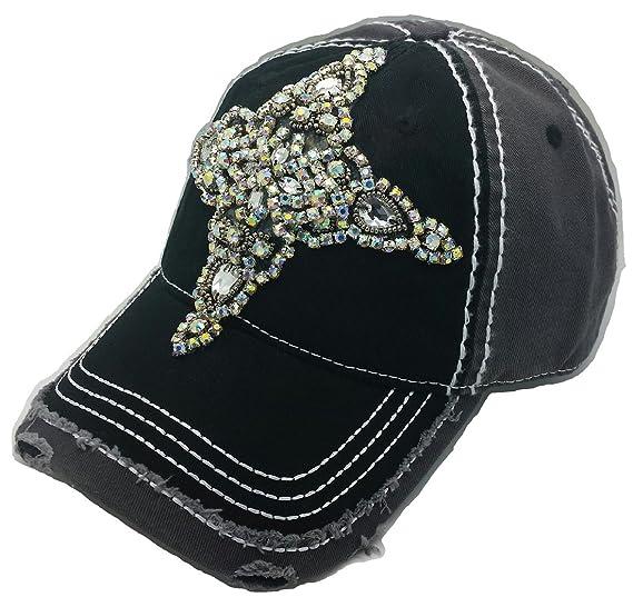 Cap Couture Women s Baseball Cross Hat One Size Black at Amazon ... e88285b34f3
