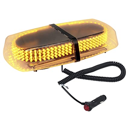NEWEST Car SUV 240 LED Magnetic Amber Yellow Truck Strobe Flash Light Warning