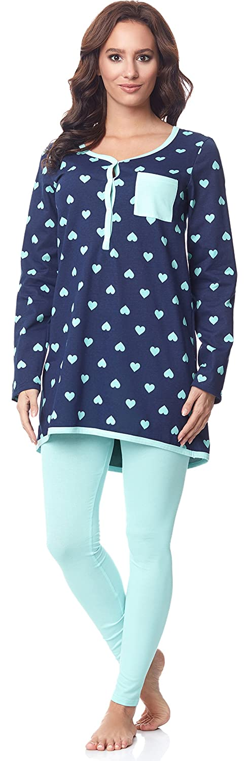 Be Mammy Women's Long Sleeve Pyjamas with Nursing Function BE20-178