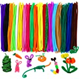 Caydo 342 Pcs Pipe Cleaners Chenille Stem 6 mm x 12 Inch, Assorted Colors, Smooth Processing at Both Ends, Safe and Humanized Design
