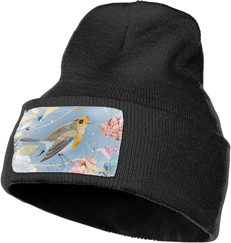 Fuwahahah - Gorro de invierno con diseño de pájaro, unisex, para mujer, hombre