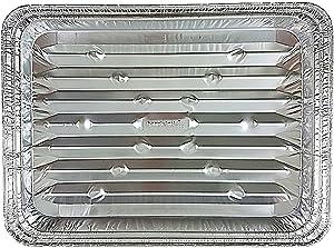 Handi-Foil Disposable Aluminum Foil Broiler Baking Cooking Pan - HFA REF # 333 (50)