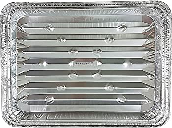 Handi-Foil Disposable Aluminum Foil Broiler Baking Cooking Pan