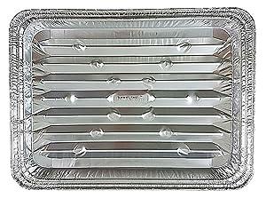 Disposable Aluminum Foil Broiler Baking Cooking Pan - HFA REF # 333 (25)