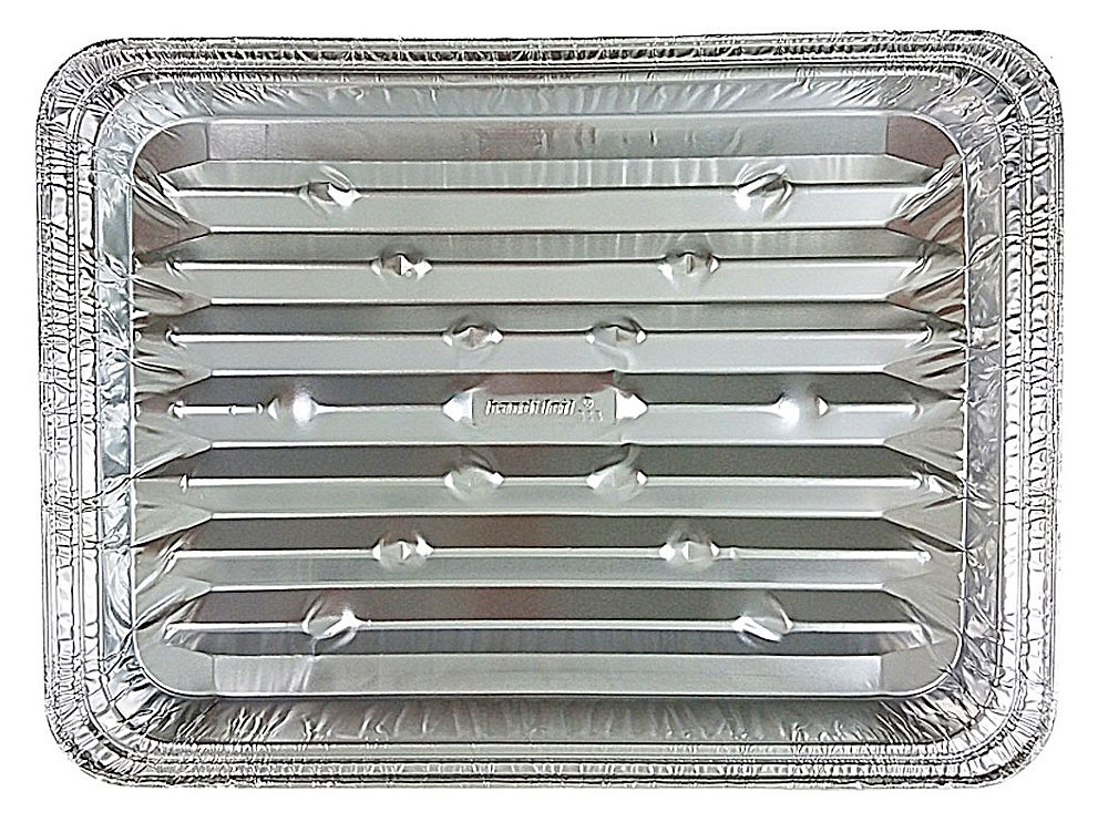 Disposable Aluminum Foil Broiler Baking Cooking Pan - HFA REF # 333 (25)