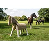 neu holzpferd bayerwald pony fanny t v s d gs holzpony garten douglasie 89cm spielzeug. Black Bedroom Furniture Sets. Home Design Ideas