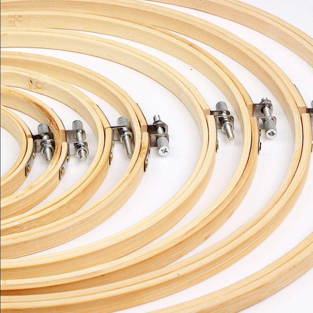 Nsiwem Stickrahmen Bambus Kreis 6 St/ück Stickerei Kreis Runde Einstellbar Stickerei Holz Rahmen Stickrahmen Rahmen Stickerei Ring f/ür DIY Kunsthandwerk Handliches N/ähen