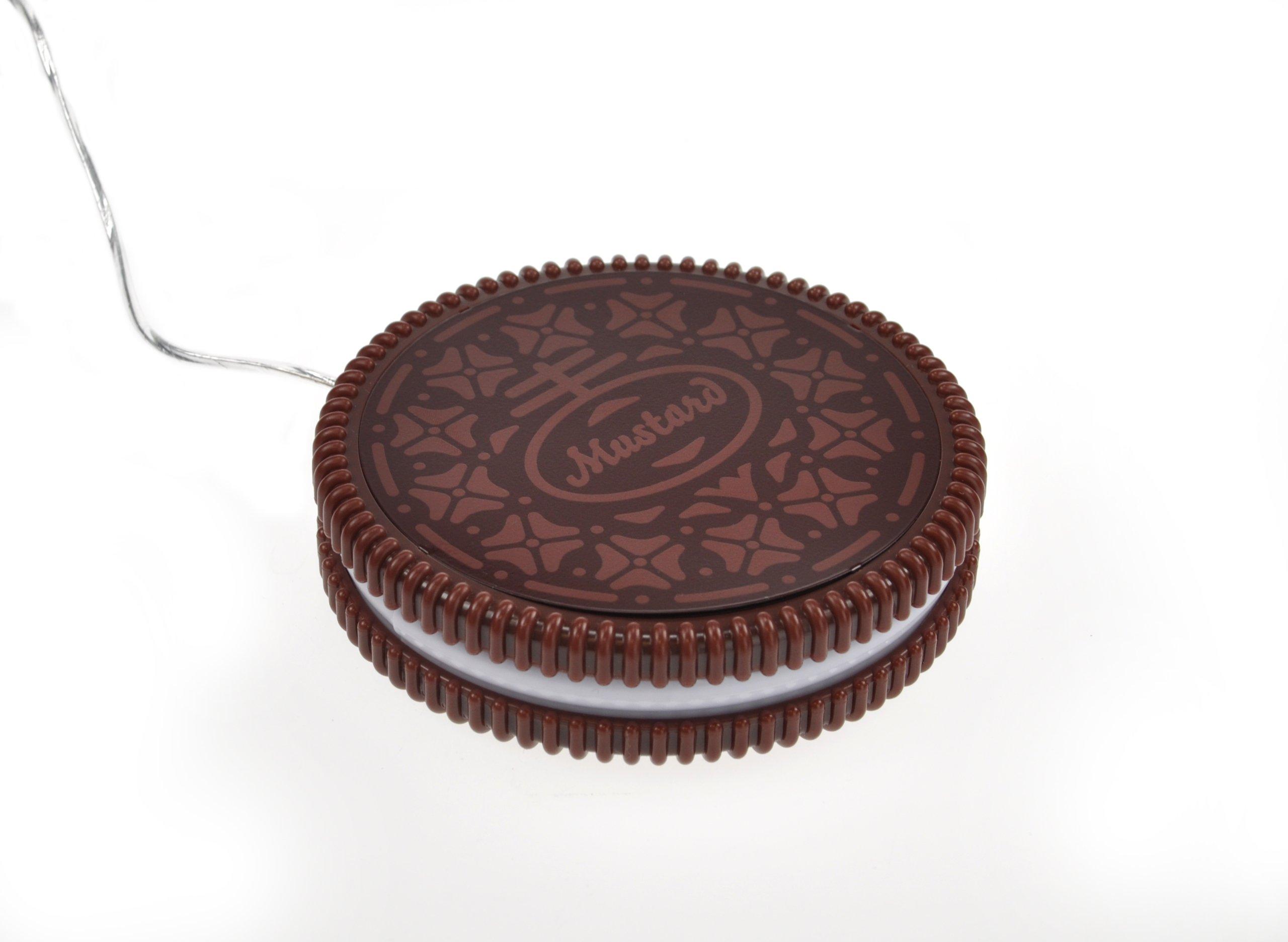 Mustard USB Cup Mug Warmer Coaster - Dark Brown Hot Cookie (NG1702) by Mustard and Co.