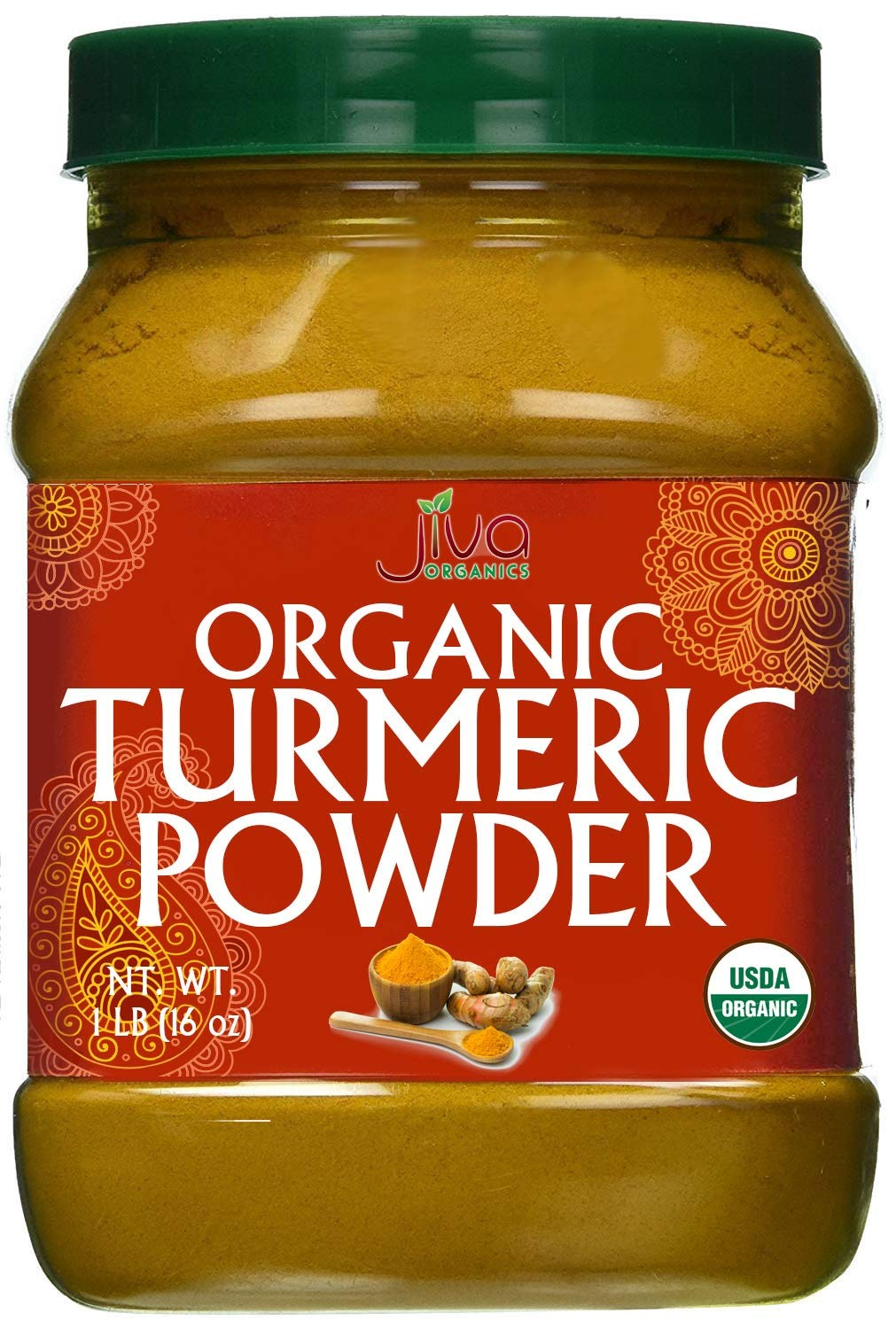 Organic Turmeric Root Powder 16oz - Lab Tested for Heavy Metals