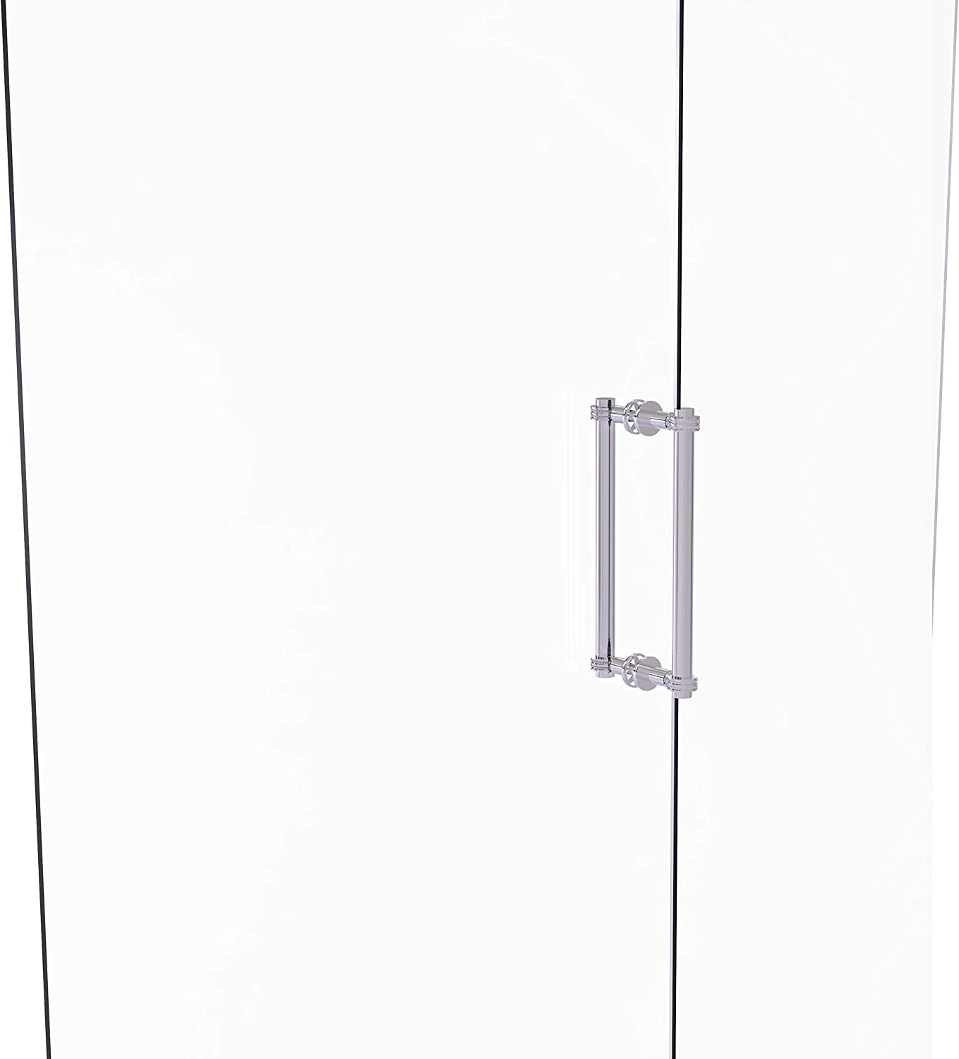 Polished Chrome Allied Brass 404D-12BB Contemporary 12 Inch Back Dotted Accent Shower Door Pull