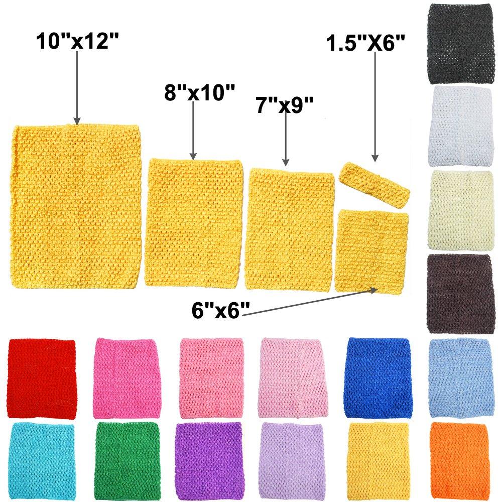TtS Estirar La Tapa Del Tubo Cintura Tutu Crochet Headband Suministros 5 Tamaños Disponibles --4x15cm (Baby Blue) Touch Global