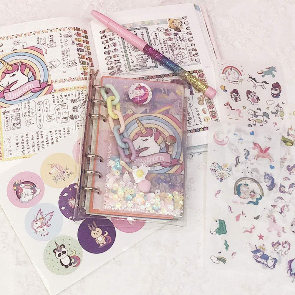 Toyvian Quaderni per unicorno dei cartoni animati quaderno della settimana Quaderni per diario Quaderni per diario della scuola