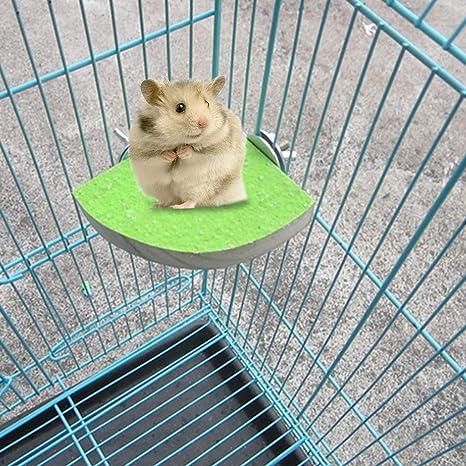 Biniwa - 1 unidad de jaula para mascotas plataforma de madera ...