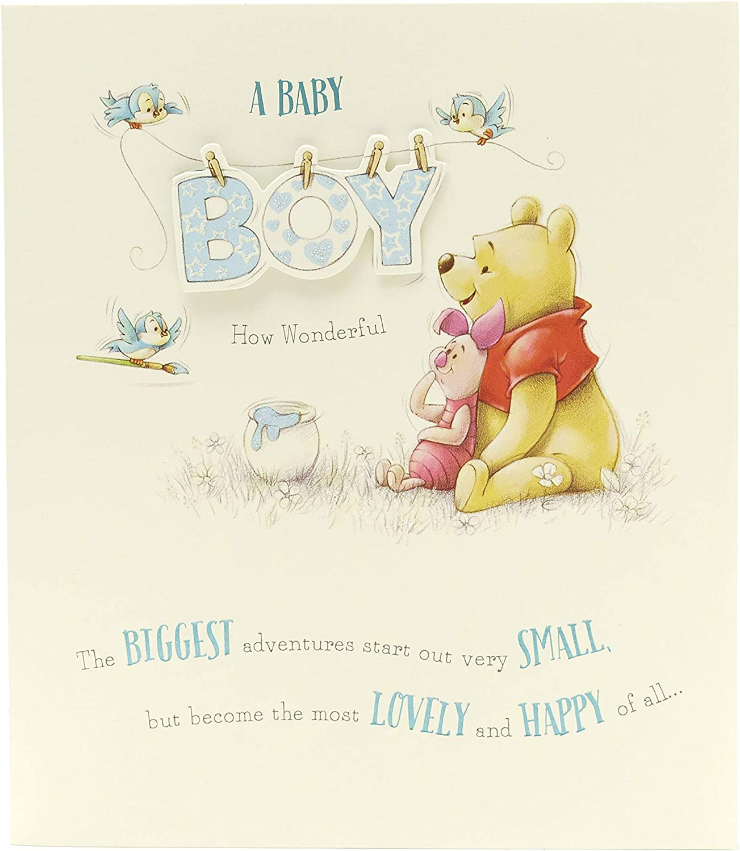 Little Baby Boy Newborn Greeting Card 13 x 20 Centimetres Quality Card