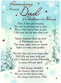 Missing Dad At Christmas.Grave Card Grave Card Thinking Of A Wonderful Dad With