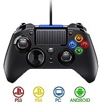 PICTEK Mando PS4 con Cable, Diseño Asimétrico